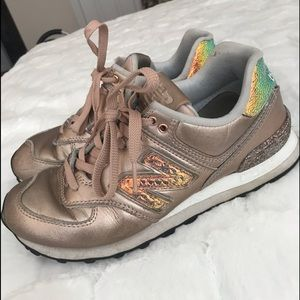 Rose Gold New Balance Shoes